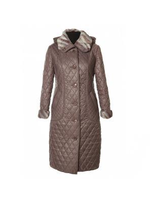 Пальто AMALIA COLLECTION. Цвет: сиреневый