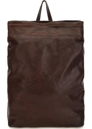 Коричневый рюкзак из натуральной кожи Campomaggi. Цвет: коричневый