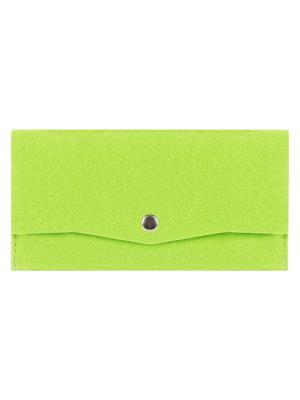 Косметичка фетровая на клепке IQ Format. Цвет: зеленый