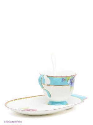 Чайная пара Виола Pavone. Цвет: белый, голубой