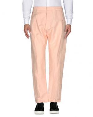 Повседневные брюки ROBERTO CAVALLI. Цвет: розовый