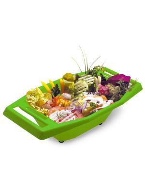 Судок для тёрок и овощерезок Borner. Цвет: салатовый