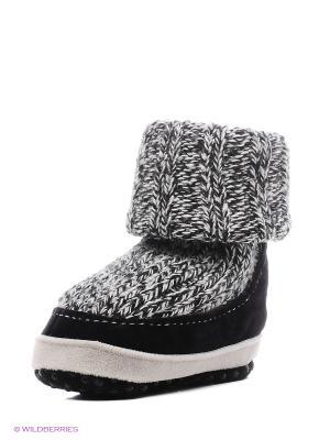 Тапочки- носки противоскользящие BROSS. Цвет: черный