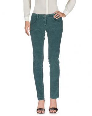 Повседневные брюки KRISTINA TI. Цвет: темно-зеленый