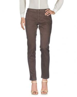 Повседневные брюки MET & FRIENDS. Цвет: темно-коричневый