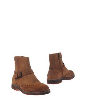 Полусапоги и высокие ботинки ESSEutESSE. Цвет: желто-коричневый