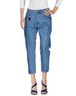 Джинсовые брюки 10X10 ANITALIANTHEORY. Цвет: синий