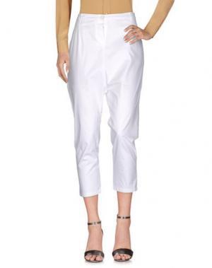Повседневные брюки CUCÙ LAB. Цвет: белый