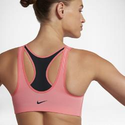 Спортивное бра со средней поддержкой  Zip Nike. Цвет: розовый