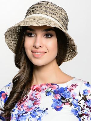Шляпа FOMAS. Цвет: темно-коричневый, бежевый