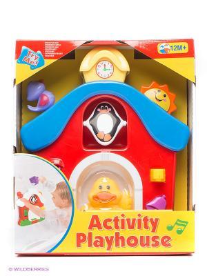 Игровой набор для ванной Дом Kiddieland. Цвет: красный, желтый, синий