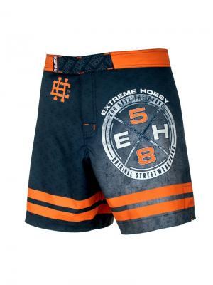 Шорты athletic REBEL, мужские Extreme Hobby TM. Цвет: оранжевый