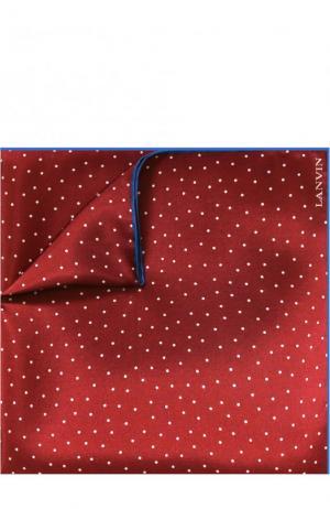 Шелковый платок с узором Lanvin. Цвет: бордовый