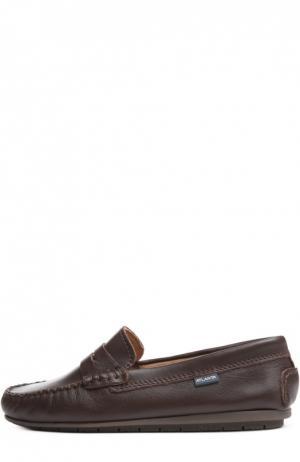 Кожаные мокасины с перемычкой Atlanta Mocassin. Цвет: темно-коричневый