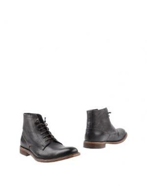 Полусапоги и высокие ботинки DAVID NAMAN. Цвет: темно-коричневый
