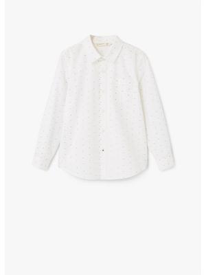 Рубашка - DAMIAN1 Mango kids. Цвет: белый