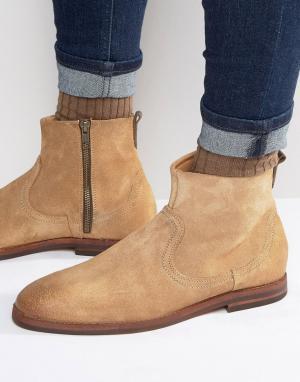 Hudson London Замшевые ботинки на молнии. Цвет: рыжий