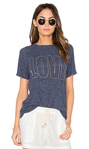 Винтажная футболка с рукавами-реглан suki Lauren Moshi. Цвет: синий