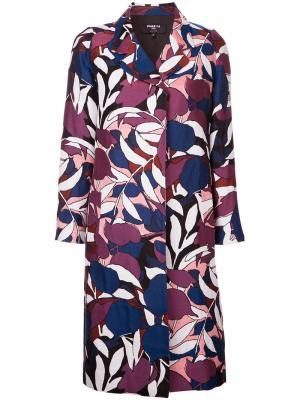 Пальто с цветочным принтом Paule Ka. Цвет: многоцветный