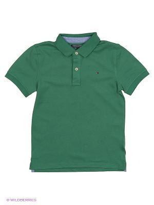 Футболка Tommy Hilfiger. Цвет: зеленый
