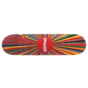 Дека для скейтборда  S5 Color Wheel Brown 31.6 x 8.0 (20.3 см) Almost. Цвет: мультиколор
