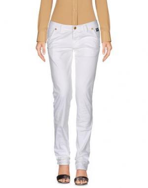 Повседневные брюки ROŸ ROGER'S DE LUXE. Цвет: белый