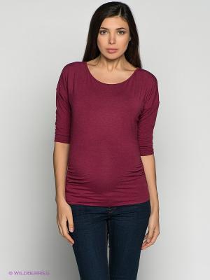 Джемпер для беременных ФЭСТ. Цвет: бордовый
