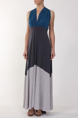 Платье джерси Von Vonni. Цвет: голубой