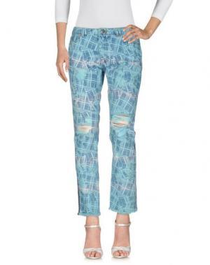 Джинсовые брюки JAMES LONG. Цвет: лазурный