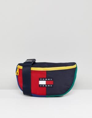 Tommy Jeans Capsule Сумка-кошелек на пояс в стиле 90-х Jean. Цвет: мульти