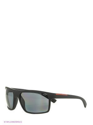 Солнцезащитные очки Prada Linea Rossa. Цвет: черный