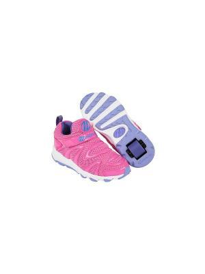 Роликовые кроссовки Heelys Rapido. Цвет: розовый, белый