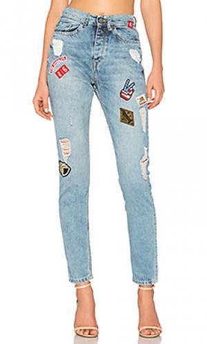 Узкие джинсы с накладкой Etienne Marcel. Цвет: none