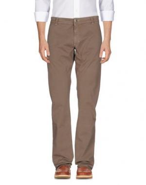 Повседневные брюки 9.2 BY CARLO CHIONNA. Цвет: какао