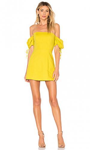 Мини платье anna Lovers + Friends. Цвет: лимонный