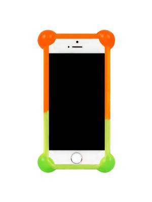Бампер силиконовый универсальный 3,5-4,7 IQ Format. Цвет: салатовый,светло-желтый