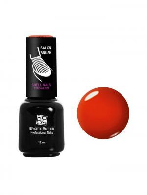 Гель лак Shell Nails тон 995, 12ml Brigitte Bottier. Цвет: оранжевый