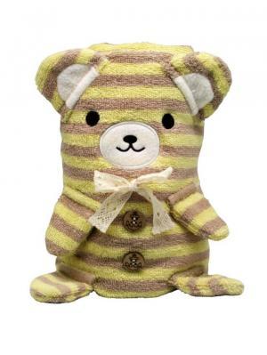 Трансформер Полотенце-Игрушка Медвежонок 100x70 см Склад Уникальных Товаров. Цвет: желтый, коричневый