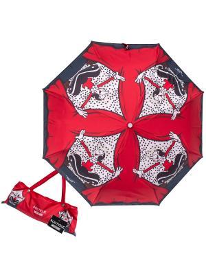 Зонт складной Moschino 7404-OCC Olivia On Scene Red. Цвет: красный, белый
