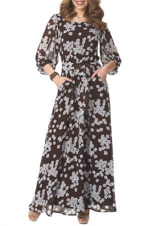 Платье Argent. Цвет: коричнево-белый