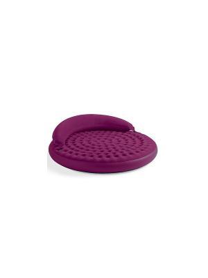 Надувной матрас -диван ультра 191х53см Intex. Цвет: темно-бордовый
