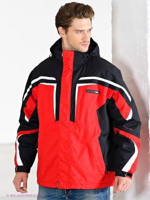 Куртка горнолыжная Trespass. Цвет: красный, белый, черный