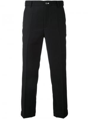 Укороченные брюки строгого кроя Guild Prime. Цвет: чёрный