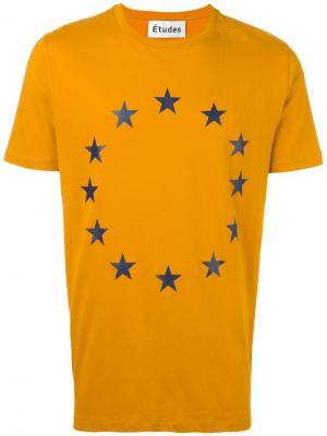 Футболка Page Europa Études. Цвет: жёлтый и оранжевый