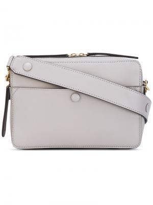 Структурированная сумка через плечо Anya Hindmarch. Цвет: телесный