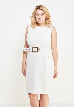 Платье Just Joan. Цвет: белый