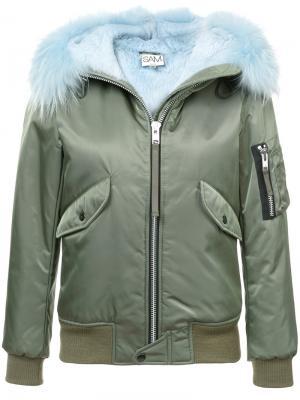 Куртка Jenny с отделкой кроличьим мехом Sam.. Цвет: чёрный