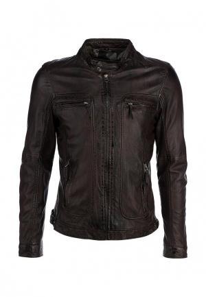 Куртка кожаная Oakwood. Цвет: коричневый