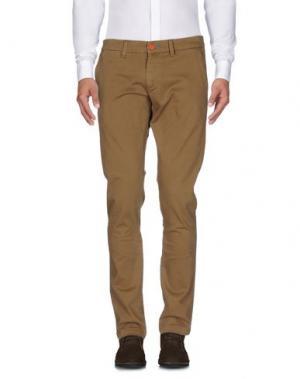Повседневные брюки QU4TTRO. Цвет: хаки