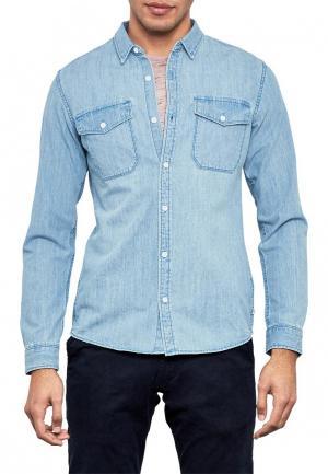 Рубашка джинсовая Q/S designed by. Цвет: голубой
